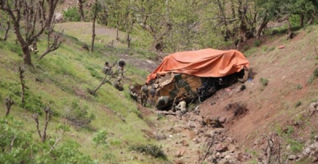 3 Askerin Şehit Olduğu Araç 150 Metrelik Uçuruma Yuvarlanmış...
