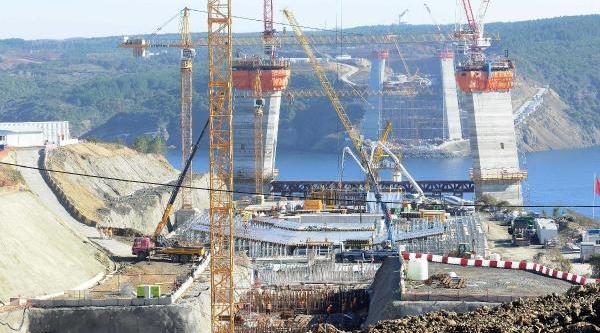 3. Boğaz  Köprüsü'nde  Ayaklar 90 Metreyi Geçti