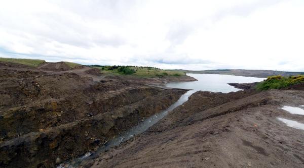 3. Havalimanı Arazisinde Bulunan Göletler Karadenize Boşaltılıyor