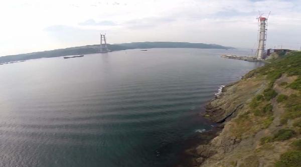 3'üncü Köprü İnşaati Hızla Sürüyor: Köprü Ayaklarının Yüksekliği 245 Metreyi Aştı