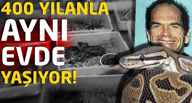 400 yılanla aynı evde yaşıyor!