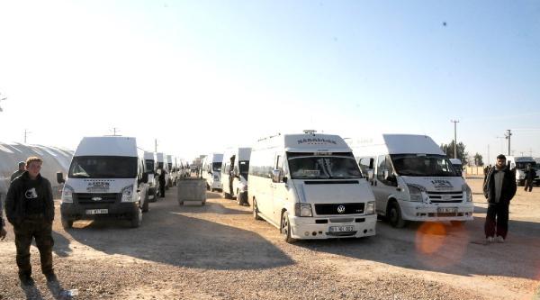 500 Suriyeli Viranşehir Çadir Kenti'ne Gönderildi