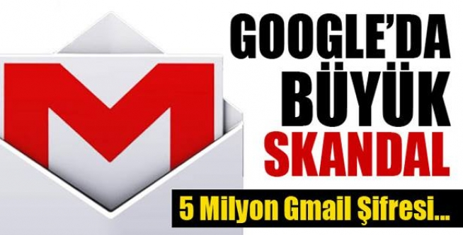 5 milyon Gmail şifresi internete düştü