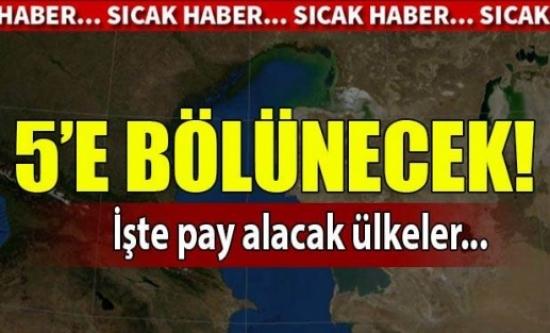 5 ülke Hazar'ı bölüşüyor