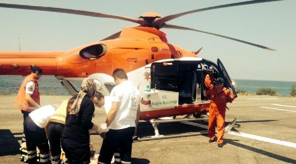6 Aylık Bebek Ambulans Helikopterle Rize'ye Getirildi