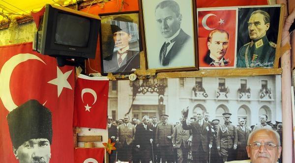 76 Yaşındaki Ali Sarıkaya'nın Atatürk Sevgisi