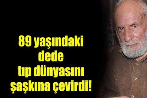 89 yaşındaki Mehmet İnanç, 55 yıldır uyumadığını söylüyor