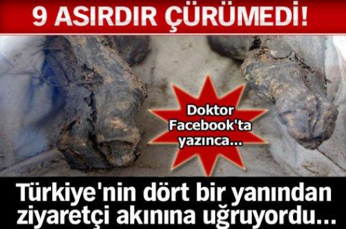 9 asırdır çürümedi! Türkiye'nin dört bir yanından ziyaretçi akınına uğruyordu!
