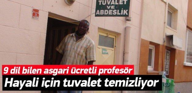 9 dil bilen profesör, tuvalet temizliyor!