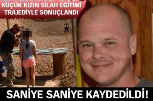 9 yaşındaki kız silah hocasını vurdu