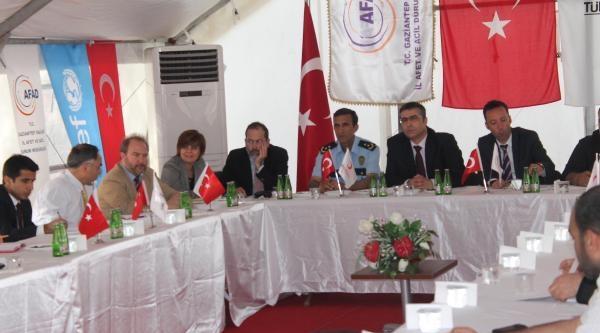 Ab Komisyonu Heyeti İslahiye Çadir Kenti'ni Ziyaret Etti