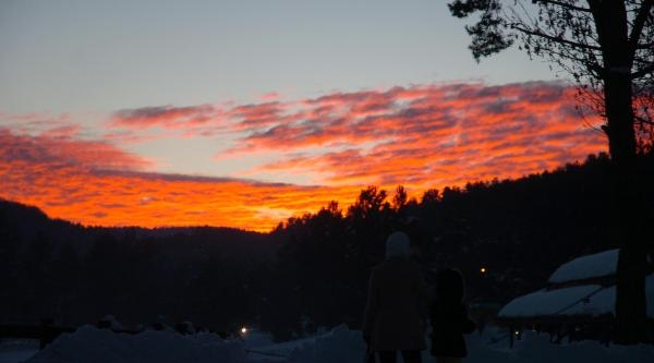 Abant'ta Gün Batimi Güzelliği