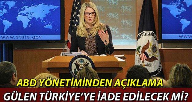 ABD yönetiminden Gülen'in iadesi konusunda yorum yok