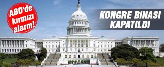 ABD'de alarm! Kongre binası kapatıldı