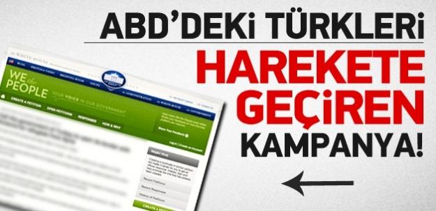 ABD'deki Türkleri harekete geçiren kampanya...
