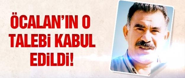 Abdullah Öcalan'ın o talebi kabul edildi!