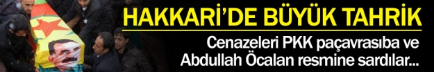 ABDULLAH ÖCALAN'LI PKK BAYRAKLI CENAZE !