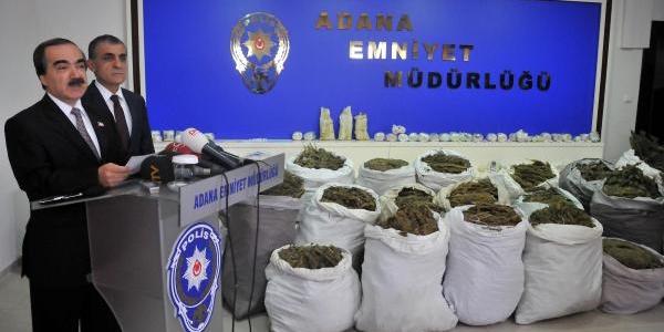 Adana'da Son 10 Ayda 13 Ton Esrar Ele Geçirildi