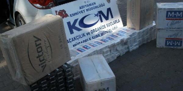 Adiyaman'da 5 Bin Paket Kaçak Sigara Ele Geçirildi