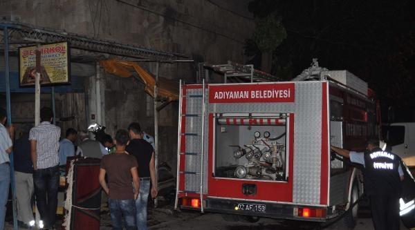 Adıyaman'da İşyeri Yangını Hasara Yol Açtı
