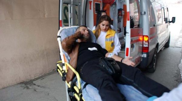 Adiyaman'da Motosiklet Çarpan Polis Yaralandi