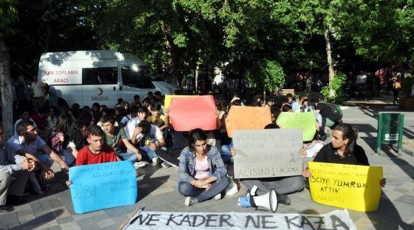 Adıyaman'da 'ölen Maden İşçileri' İçin Oturma Eylemi