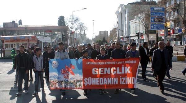 Adiyaman'Da Sarikamiş Şehitleri Için Yürüyüş Düzenlendi