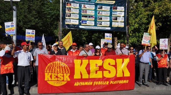 Adıyaman'da 'torba Yasa' Protestosu