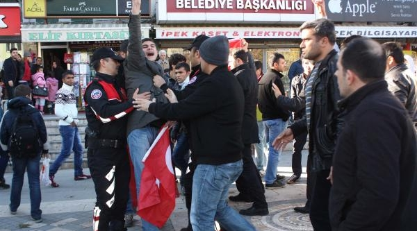 Adiyaman'Da Yüksekova Protestosu Gerginliği