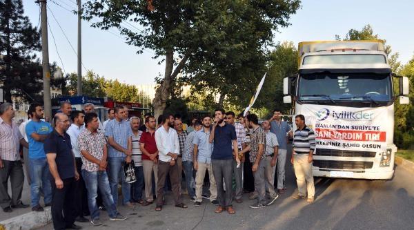 Adıyaman'dan Suriye'ye 2 Tır Gıda Yardımı Gönderildi