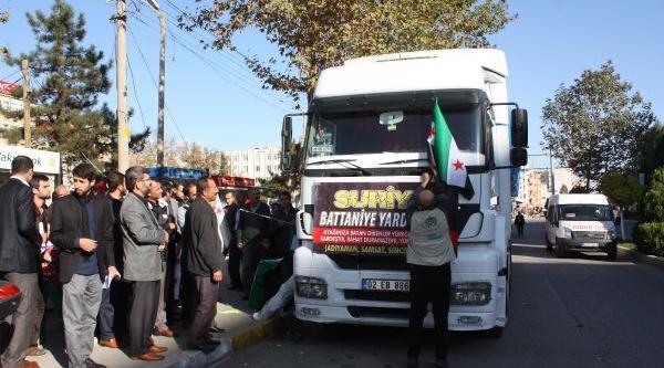 Adiyaman'Dan Suriye'Ye 3 Tir Yardim Gönderildi