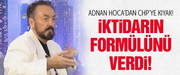 Adnan Hoca'dan CHP'ye iktidarın formülü!