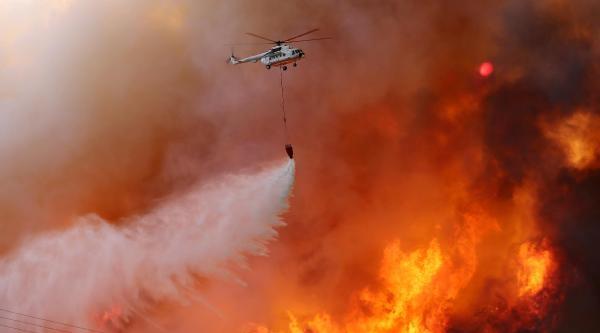 Adrasan Turizm Bölgesinde Orman Yangını (5)