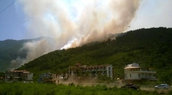Adrasan Turizm Bölgesinde Orman Yangını  - Fotoğrafları