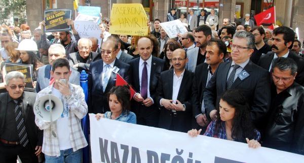 Afyonkarahisar'da Soma Protestosu