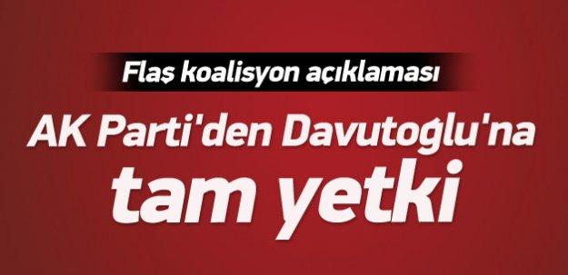 AK Parti'den Davutoğlu'na tam yetki