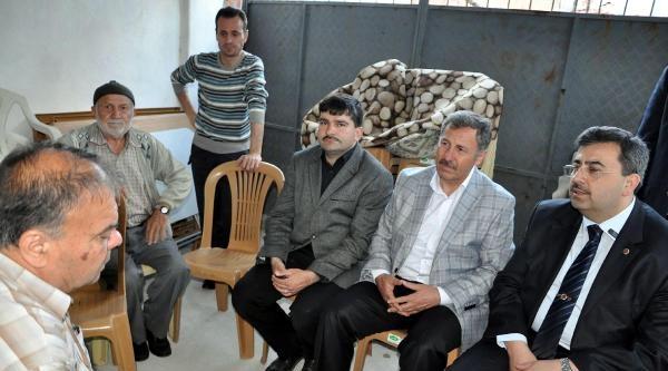 Ak Parti Heyeti, Madenci Ailelere Başsağlığı Ziyareti