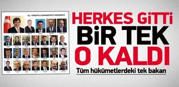 AK Parti hükümetlerinde hep olan tek isim