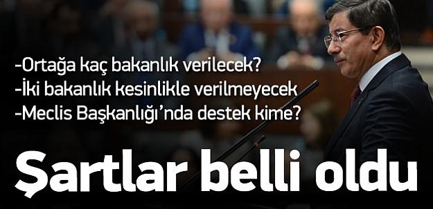 AK Parti'nin koalisyon şartları