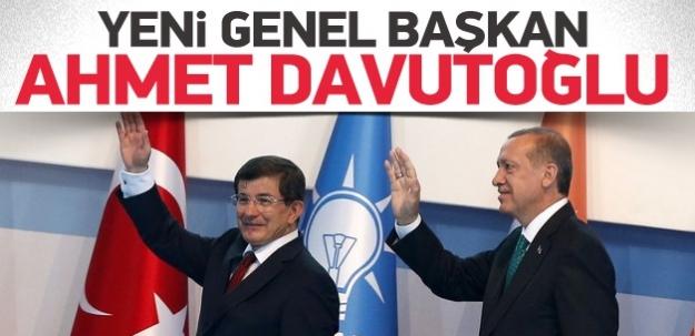 AK Parti yeni genel başkanı Davutoğlu seçildi