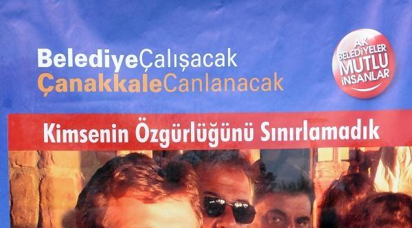 Ak Parti'den Çanakkale'de İçkili Seçim Afişi