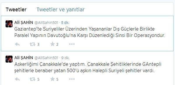 Ak Partili Şahin: Gaziantep'teki Olaylar Paralel Yapının Operasyonu