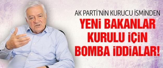 AK Parti'nin kurucu isminden yeni kabine için bomba iddialar!
