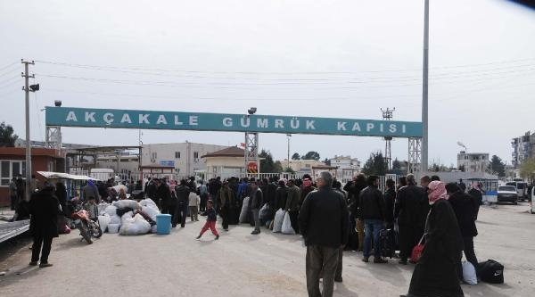 Akçakale'deki Suriyeliler, Ülkelerine Döndü