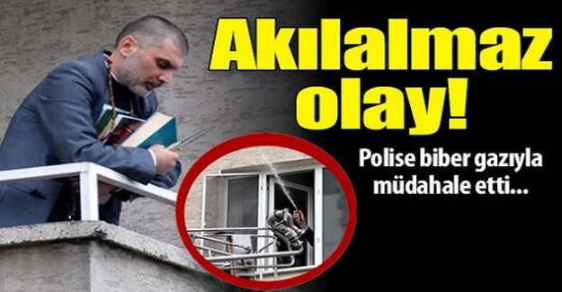 Akılalmaz olay! Polise biber gazlı müdahale!