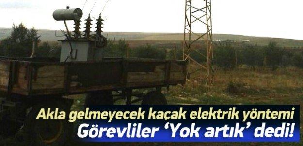Akla hayale gelmeyecek kaçak elektrik yöntemi!