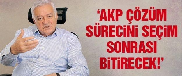 'AKP seçim sonrası çözüm sürecini bitirecek!'