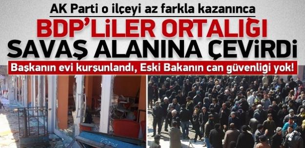 AKP'nin kazandığı o ilde BDP'liler ortalığı savaş alanına çevirdi!