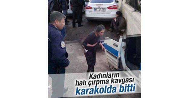 Aksaray'da halı çırpma kavgası karakolda bitti