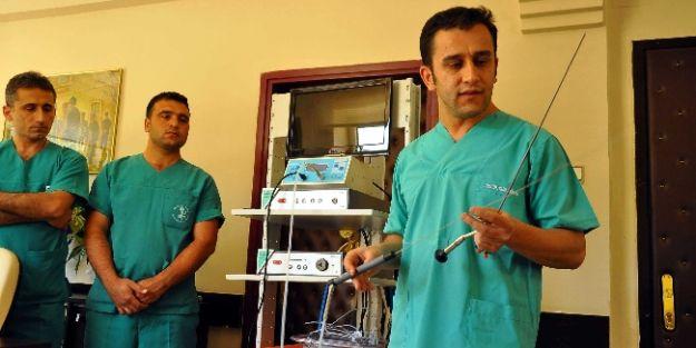 Akşehir Devlet Hastanesi 'ne Pnömotik Litatriptor Taş Kırma Makinesi